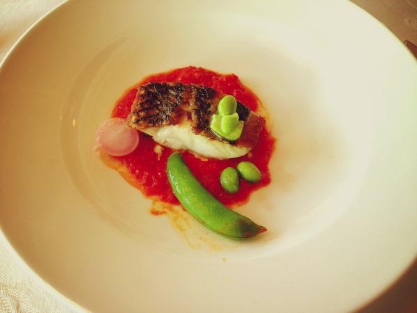 黒鯛と夏野菜のエチェヴェ プロバンサル風