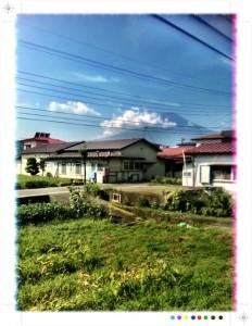 車窓 富士山